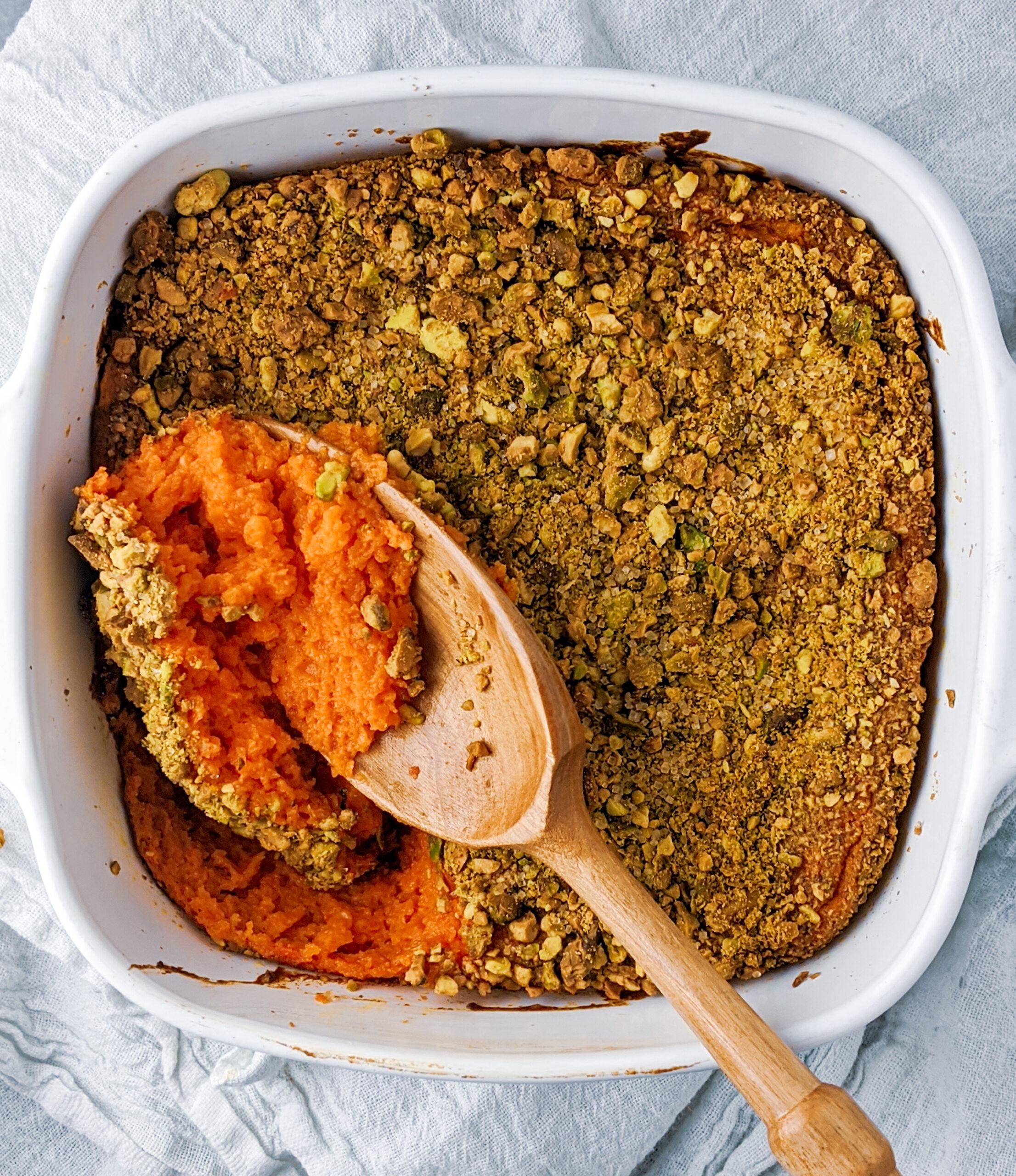 Carrot Pistachio Souffle