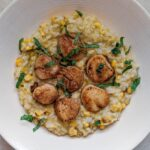 Corn Risotto and Scallops