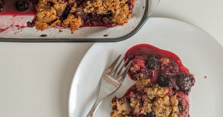 Mixed Berry Crumble (Gluten Free)