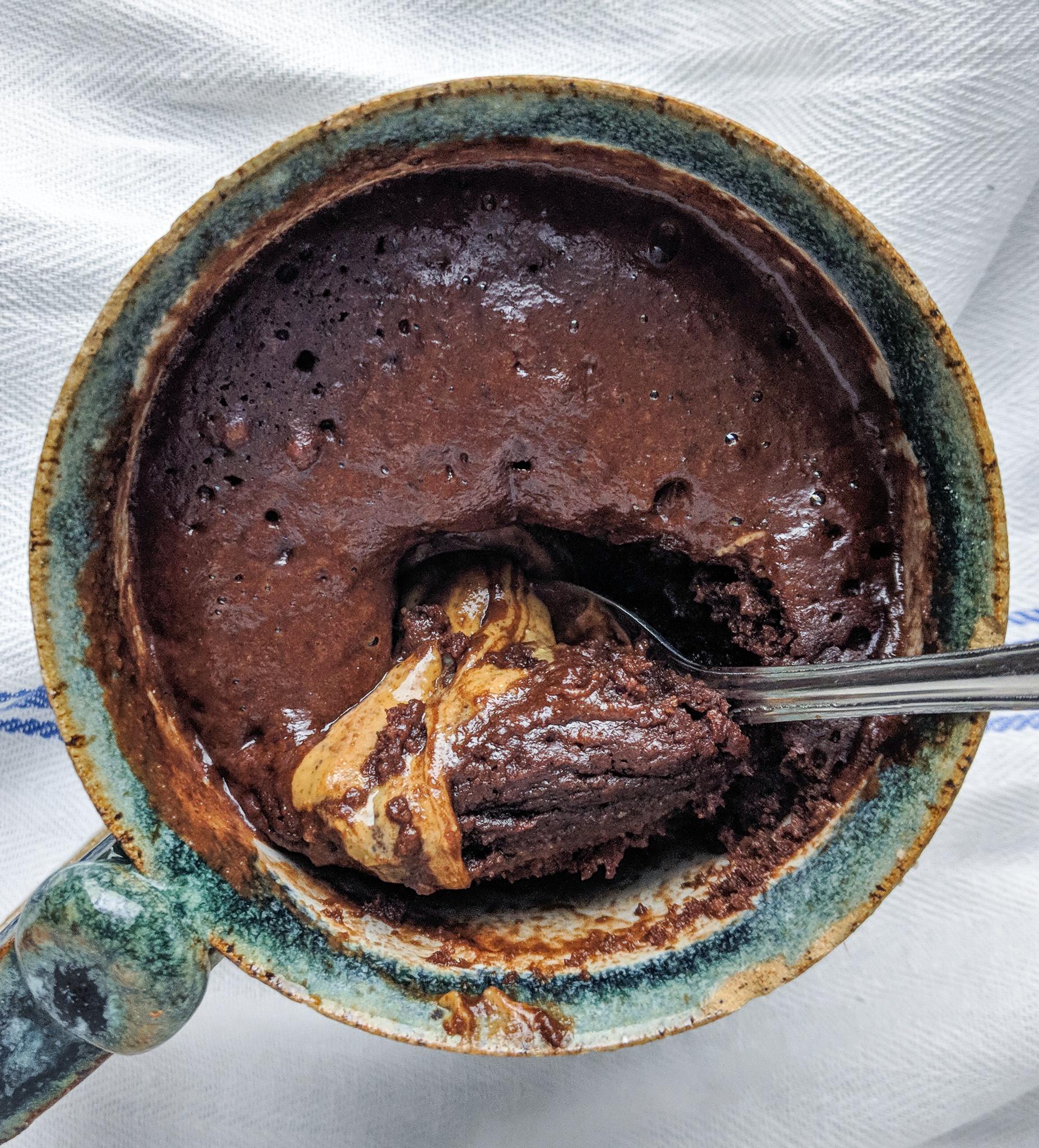 Gluten Free and Vegan Chocolate Mug Cake