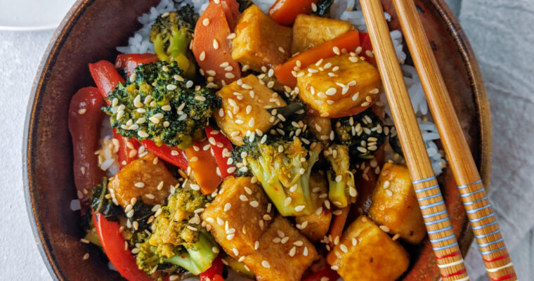 Kung Pao Tofu and Veggies