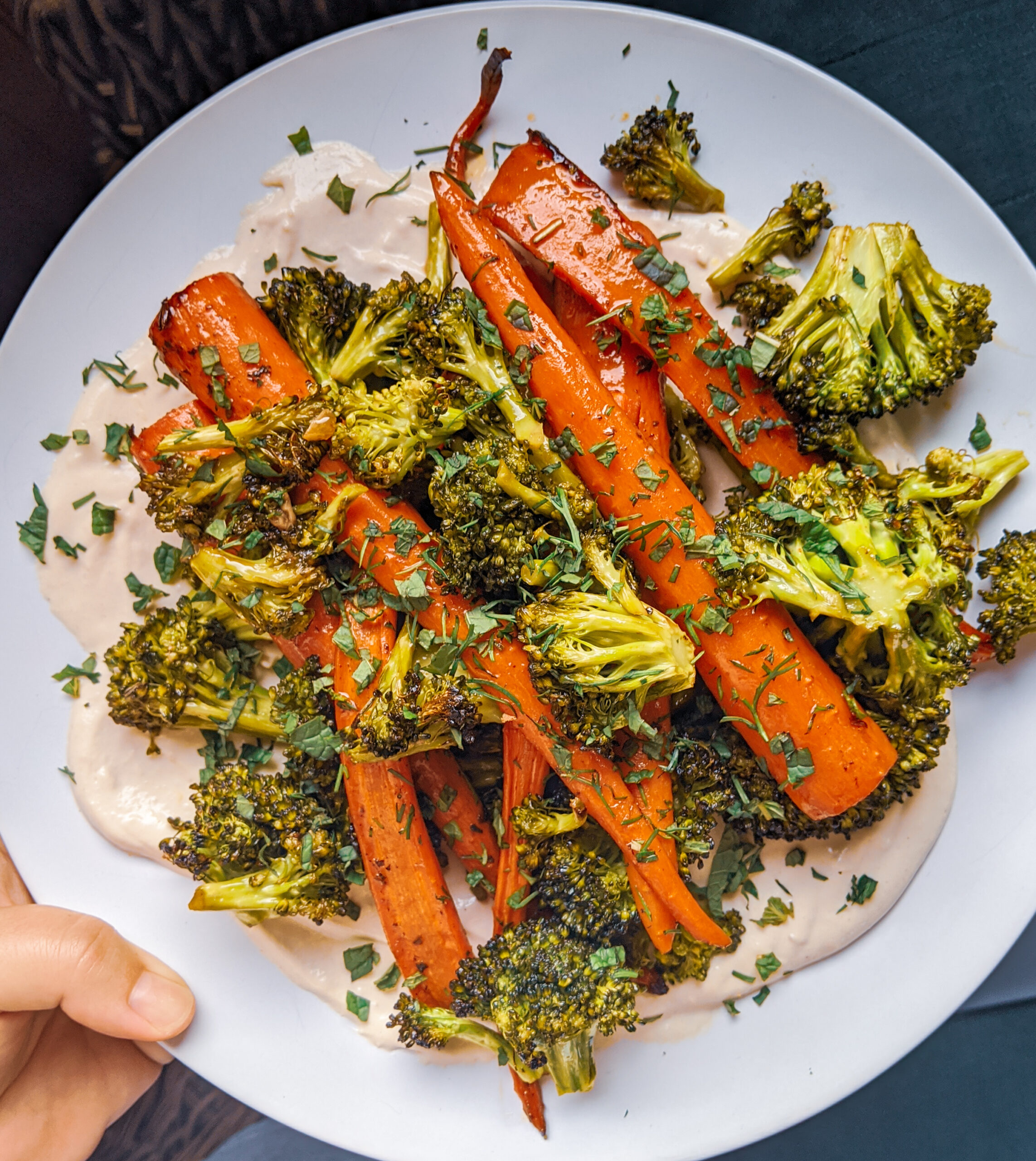 Roasted Herby Vegetables with Tahini Sauce