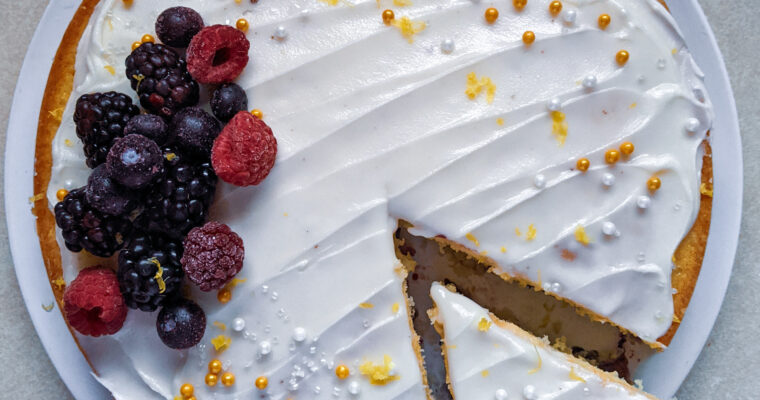 Small Batch Lemon Berry Cake