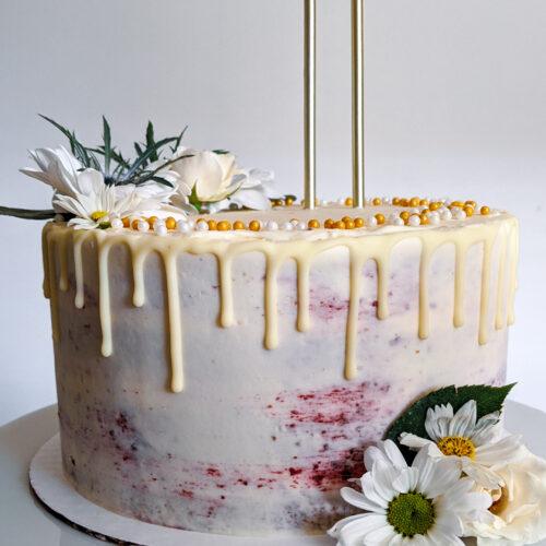 Blackberry Lavender Birthday Cake