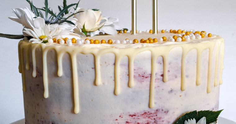 Blackberry Lavender Birthday Cake