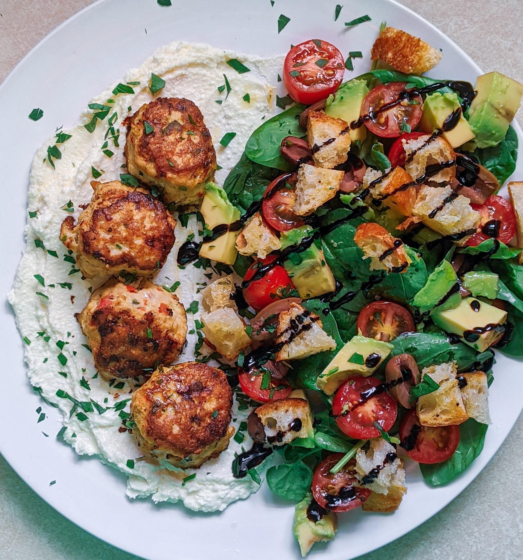 Greek Meatball Salads