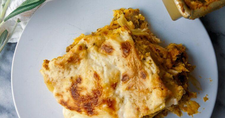 Butternut Squash Brown Butter Sage Lasagna
