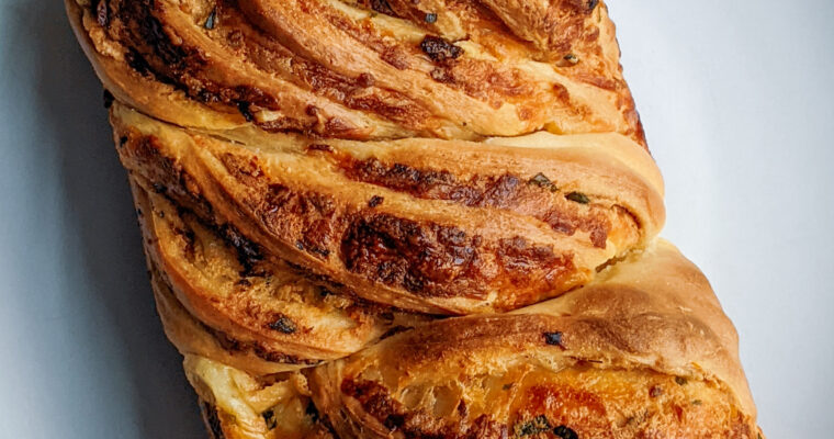 Savory Cheesy Sun-dried Tomato Babka